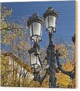 Bip Rambla Streetlight Wood Print