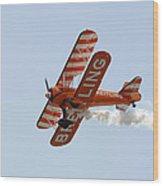 Biplane Wood Print