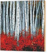 Birch 24 X 48  Wood Print by Michael Swanson