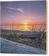 Birch Bay Sunset Wood Print