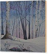 Birch Dawn Wood Print