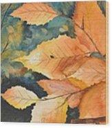 Birch Leaves Wood Print