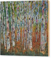 Birch Tranquility Wood Print