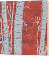 Birch Woods Wood Print
