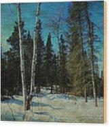 Birches  Wood Print by Dianne  Lacourciere