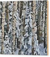 Birches In The Winter Wood Print