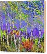 Birchtrees 56412 Wood Print