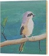 Bird By The Lake Wood Print