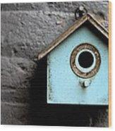 Bird House Of Blue By Diana Sainz Wood Print