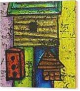 Bird House Whimsy Wood Print