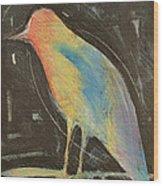 Bird In Gilded Frame Sans Frame Wood Print