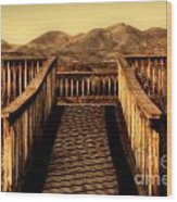 Bird Lookout-bosque Del Apache  Wood Print