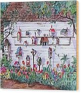 Bird Lover Shed Wood Print