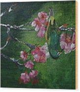 Bird N Blossom.... Wood Print