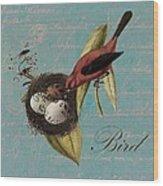 Bird Nest - 02v02t01 Wood Print