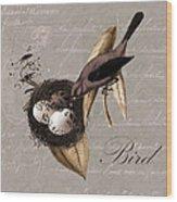 Bird Nest - 02v23c2b Wood Print