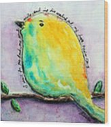 Bird Of Hope Wood Print by Lauretta Curtis