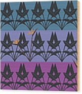 Bird Of Paradise Pattern Wood Print