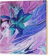 Bird Of Paradise Reversed Wood Print