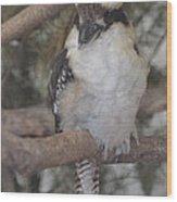 Bird On Branch II Wood Print