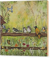 Bird Song Wood Print