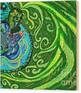 Bird Song Swirl Wood Print