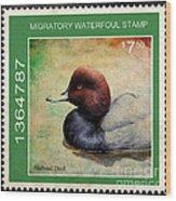 Bird Stamp Wood Print
