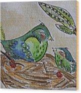 Bird Talk Wood Print