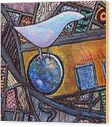 Birdball Wood Print