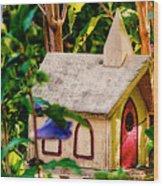 Birdhouse Church Wood Print
