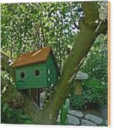 Birdhouse In A Tree Wood Print