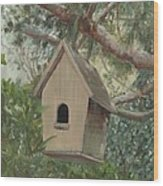 Birdhouse - Just Listed Wood Print