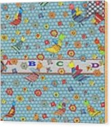 Birds And Flowers For Children Wood Print