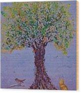 Bird's Bliss Wood Print