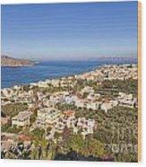 Birds Eye View Of Crete Greece Wood Print
