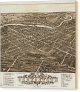 Bird's-eye View Of Youngstown Ohio 1882 Wood Print