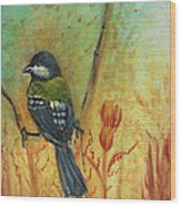 Birds Of A Feather Series3 In Autumn Wood Print
