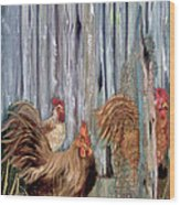 Birds Of A Feather Wood Print by Sharon Burger