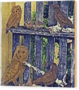 Birds Of A Feather Stay Together Wood Print