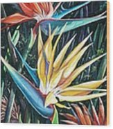 Birds Of Paradise  2   Sold Wood Print