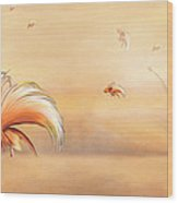 Birds Of Paradise In The Fog Wood Print