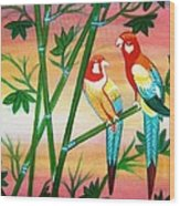 Birds In Paradise Wood Print