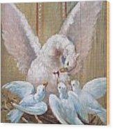 Birds Of Toledo Street Art Wood Print
