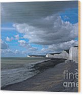 Birling Gap Beach Wood Print