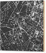 Birmingham, Historical Aerial Photograph Wood Print