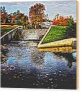 Birmingham Mi Waterfall Wood Print