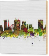 Birmingham Uk City Skyline Wood Print