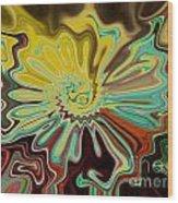 Birth Of A Flower Wood Print by Lorraine Heath