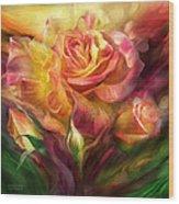 Birth Of A Rose - Sq Wood Print