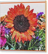 Birthday Bouquet Wood Print